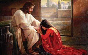 イエス・キリストが女の人を慰める