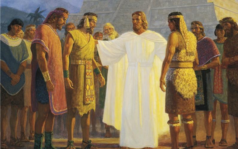 ニーファイ人にキリストが現れる