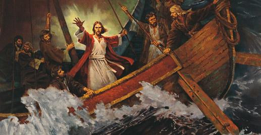 嵐を鎮めるキリスト