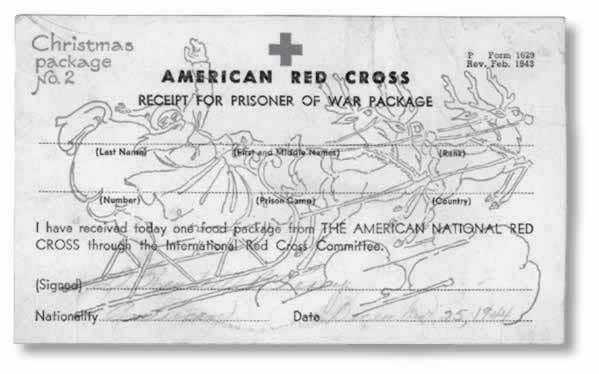 ウェンデル・テリーの赤十字の署名カード
